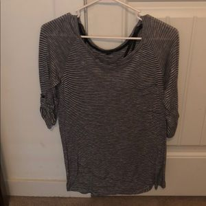 grey stripped top